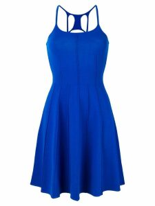 Dsquared2 back strap detail flare dress - Blue