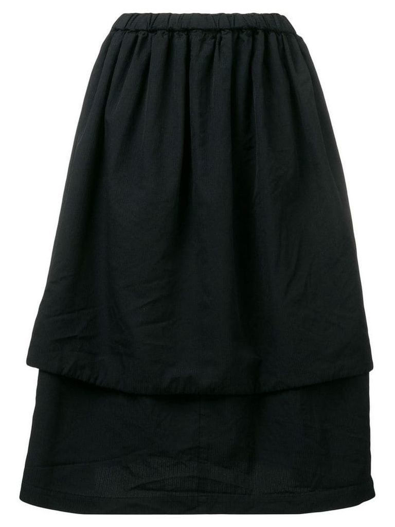 Comme Des Garçons Comme Des Garçons layered full skirt - Black