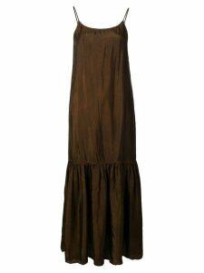 Uma Wang flared cami dress - Brown