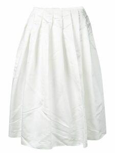 Comme Des Garçons full midi skirt - White