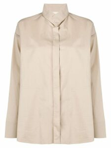 Stephan Schneider funnel neck shirt - Neutrals