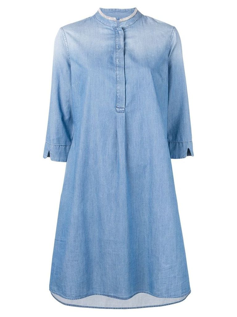 Fabiana Filippi denim shirt dress - Blue