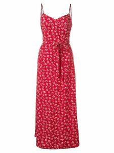 HVN Josephine long slip dress - Red
