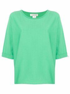 Lamberto Losani cropped sleeves jumper - Green