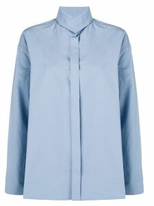 Stephan Schneider funnel neck shirt - Blue