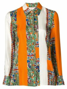 Tory Burch colour block shirt - Orange