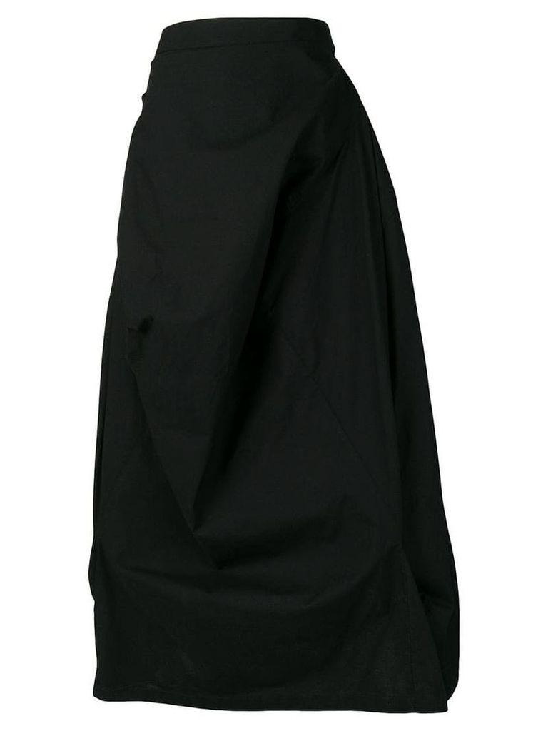 Mm6 Maison Margiela draped asymmetric skirt - Black