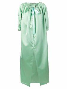 Mm6 Maison Margiela tied neck oversized coat - Green