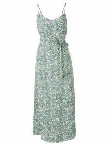 HVN Josephine long slip dress - Green