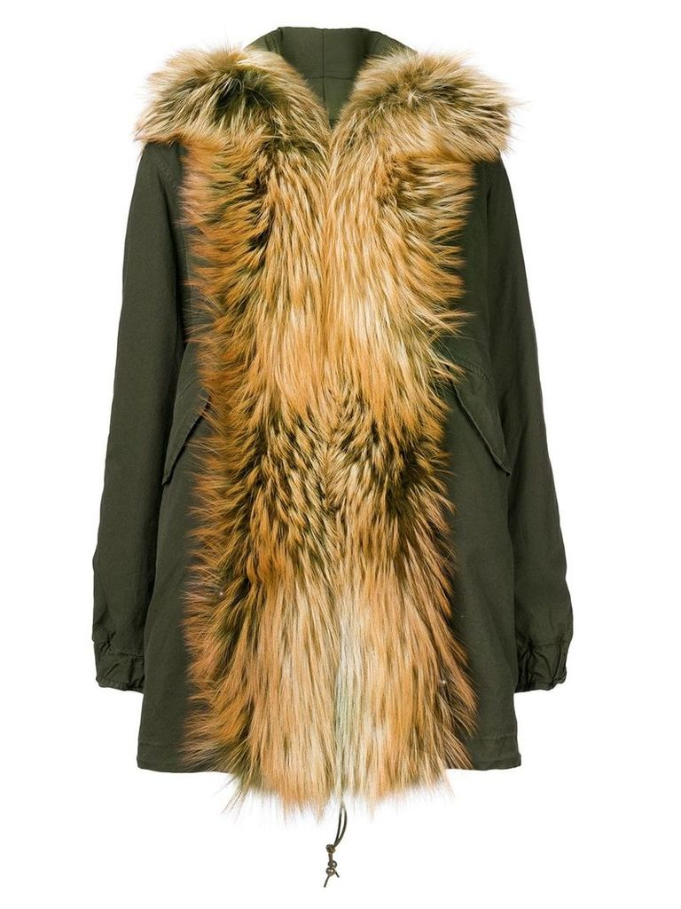 Mr & Mrs Italy fox fur shawl parka coat - Green