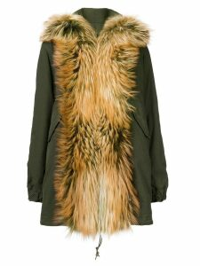Mr & Mrs Italy fox fur shawl parka coat - Green