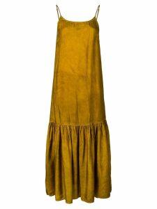 Uma Wang tiered slip dress - Gold