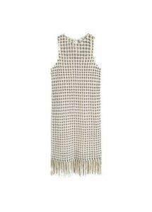 Knit fringed dress