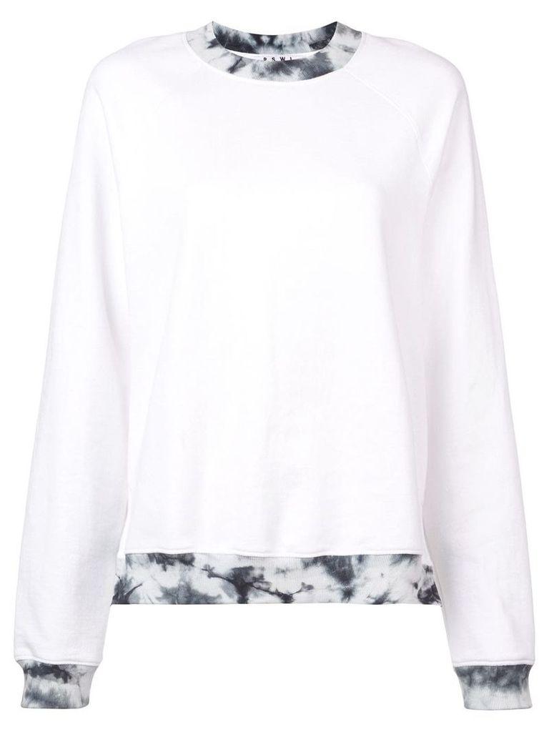 Proenza Schouler PSWL Tie Dye Ribbing Sweatshirt - White