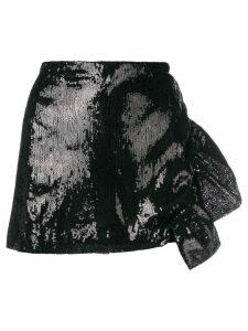 Laneus sequin embellished skirt - Black