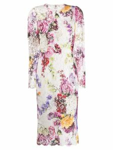 Dolce & Gabbana floral midi dress - White