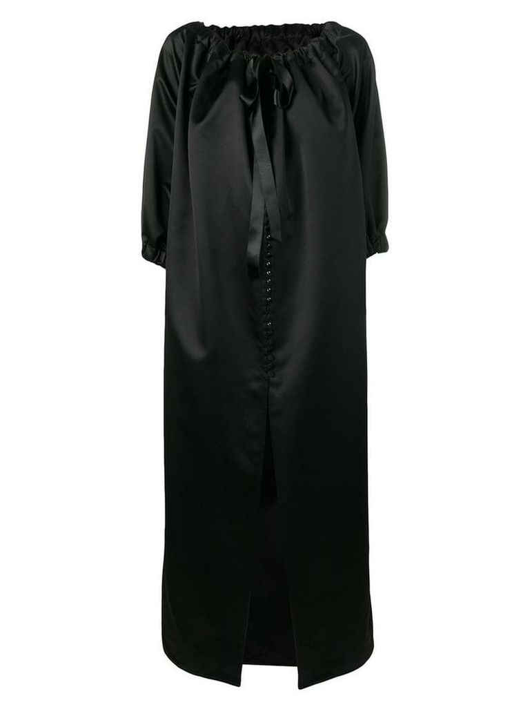 Mm6 Maison Margiela gathered tie neck coat - Black