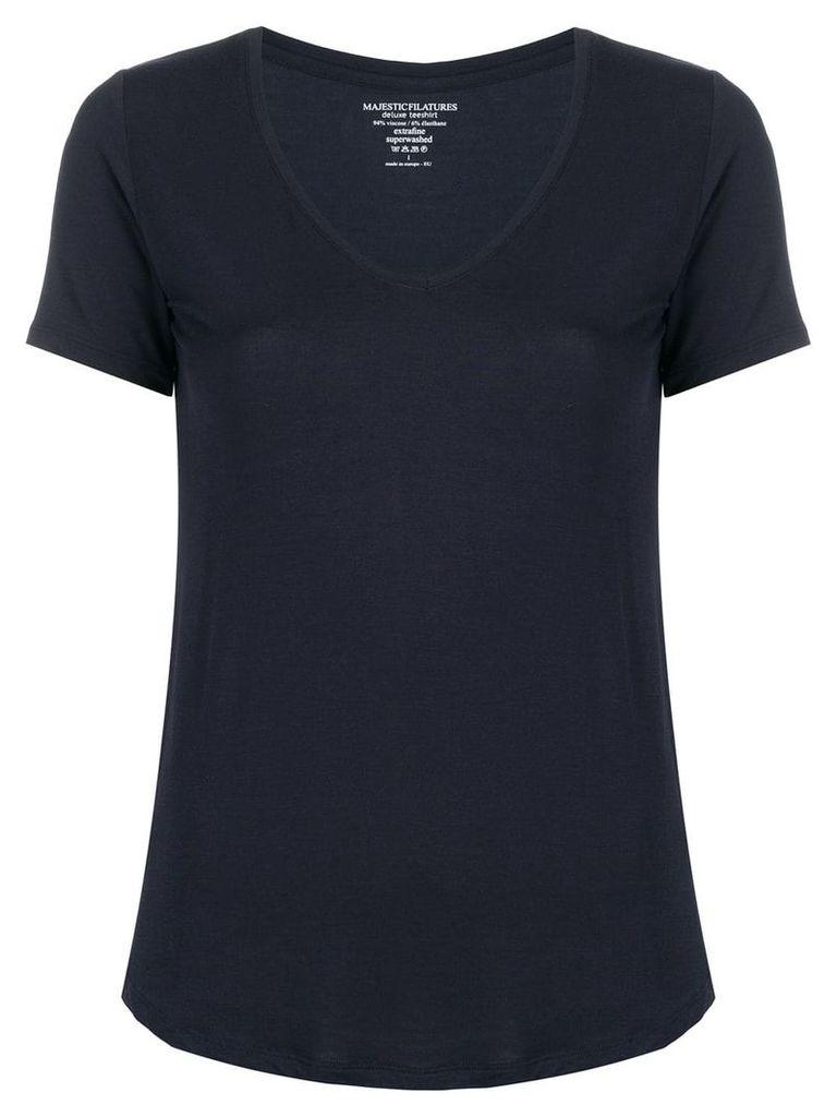 Majestic Filatures round neck T-shirt - Blue
