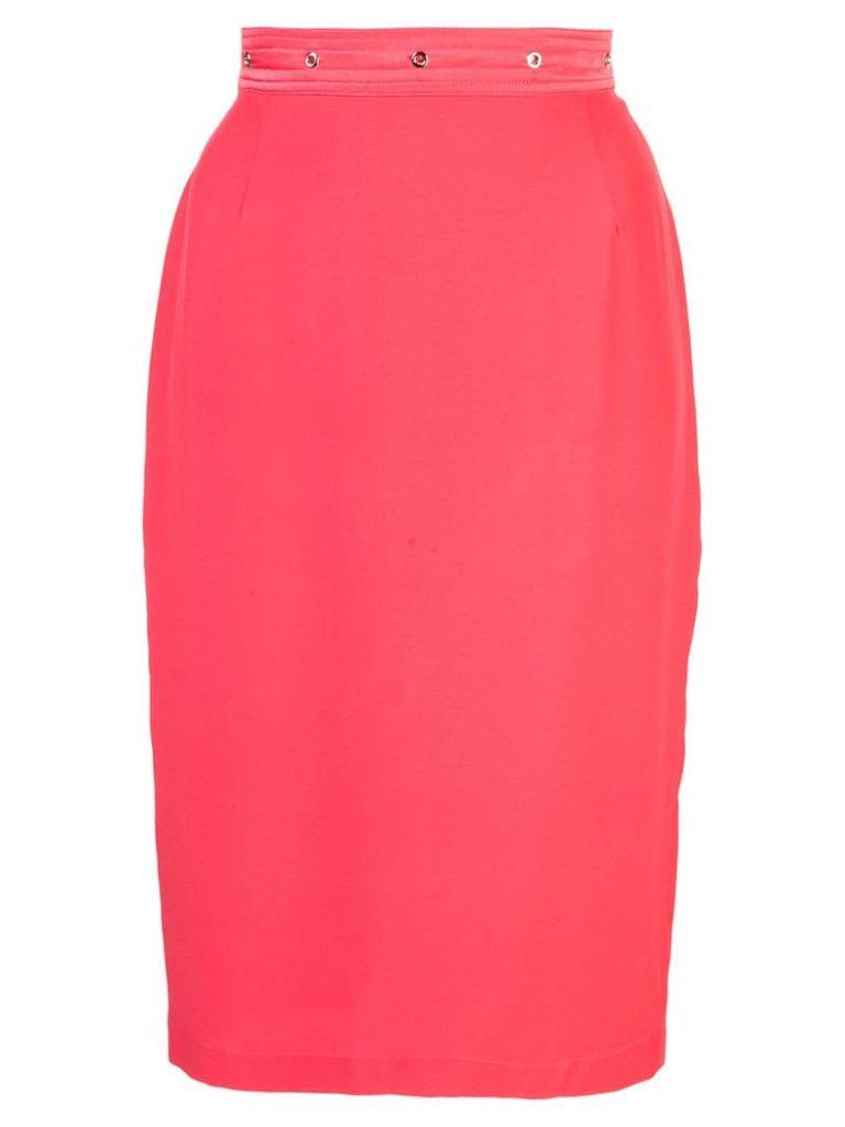 Fleur Du Mal grommet pencil skirt - Red