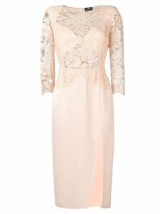 Elisabetta Franchi lace dress - Pink