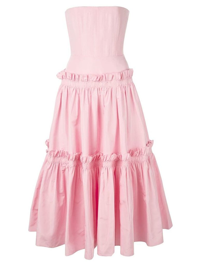 Alex Perry ruffle trimmed dress - Pink