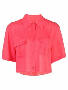 Fleur Du Mal cropped work shirt - Red
