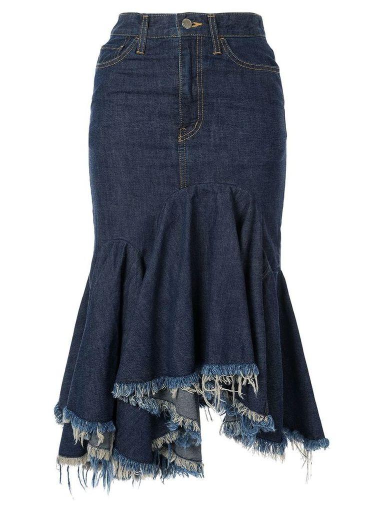 Facetasm cut-off denim skirt - Blue
