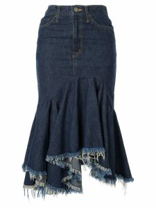 Facetasm cut-off denim skirt - Blue
