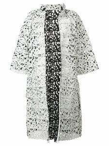 Gianluca Capannolo floral die-cut coat - White