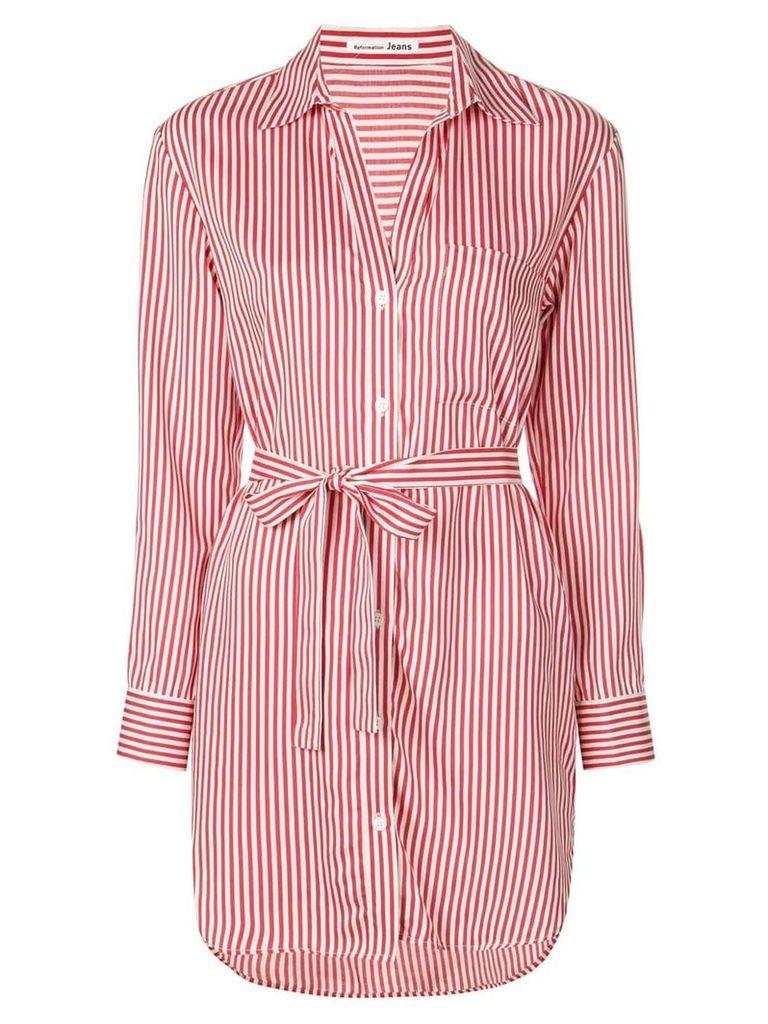 Reformation nairobi striped shirt dress - Red