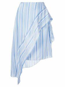 Nina Ricci striped asymmetric skirt - Blue