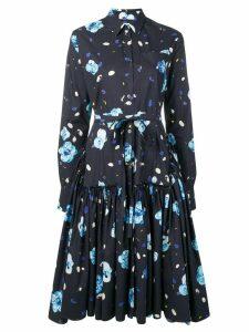 Marni floral print shirt dress - Blue