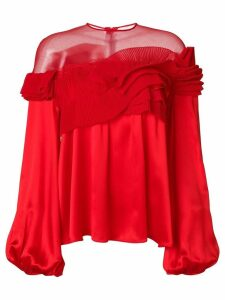 Givenchy pleated flared blouse