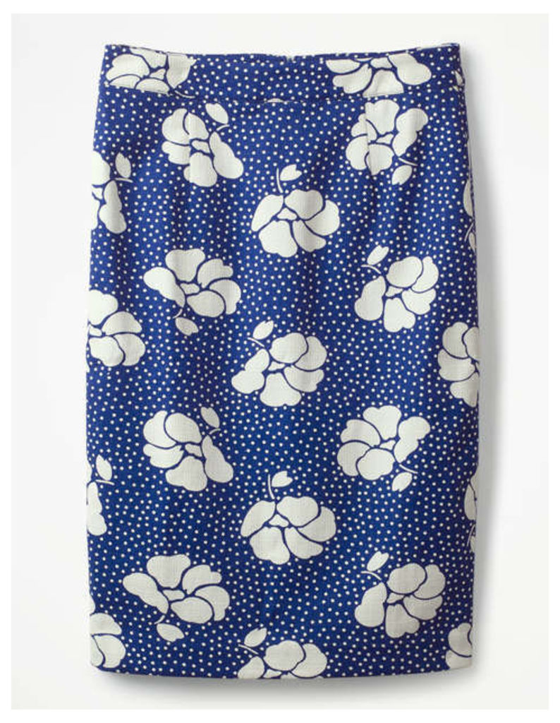 Martha Skirt Blue Women Boden, Blue
