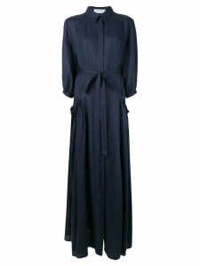 Gabriela Hearst Cervantes shirt dress - Blue