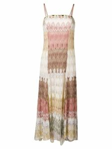 Missoni patterned evening dress - Neutrals