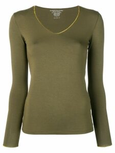 Majestic Filatures gold v-neck T-shirt - Green