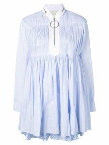 Cédric Charlier babydoll short dress - Blue