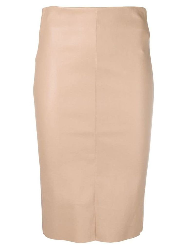 Drome leather pencil skirt - Pink