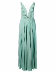 Elisabetta Franchi sparkle pleated gown - Green