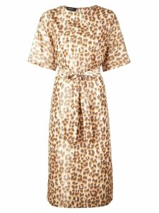 Rochas leopard print dress - Orange