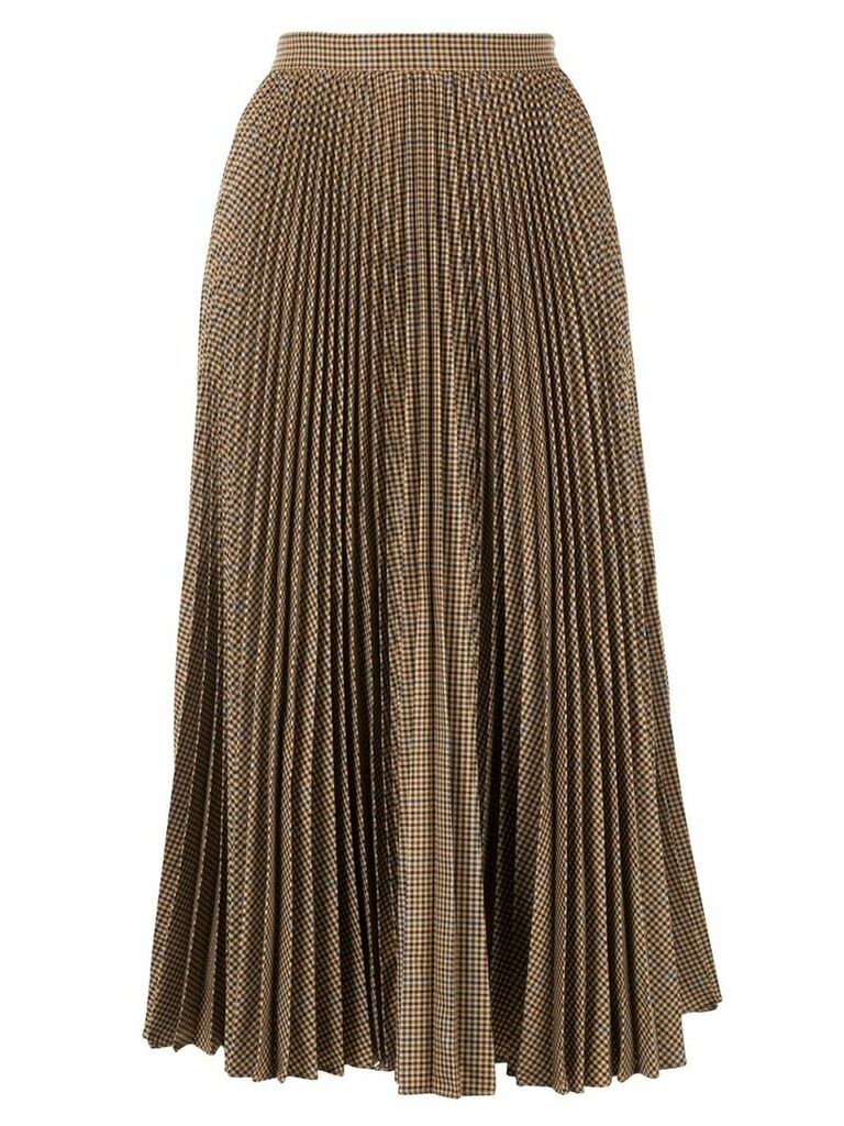 Gucci houndstooth check pleated skirt - Brown