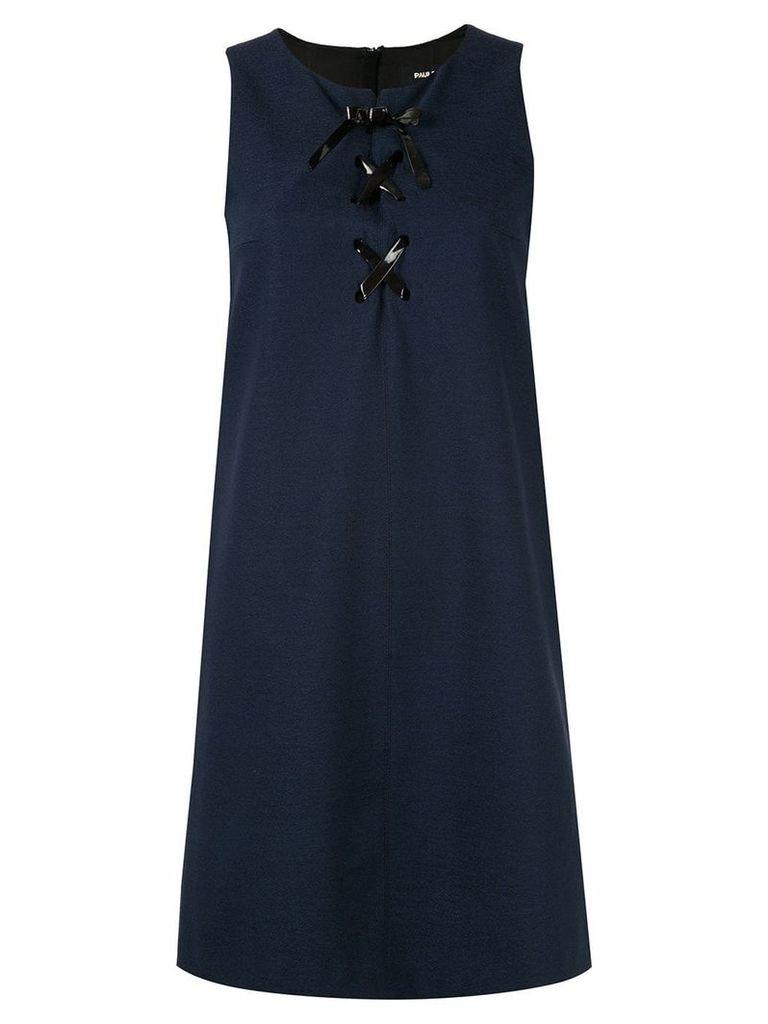 Paule Ka lace-up dress - Blue