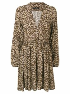 Andamane leopard print short dress - Neutrals