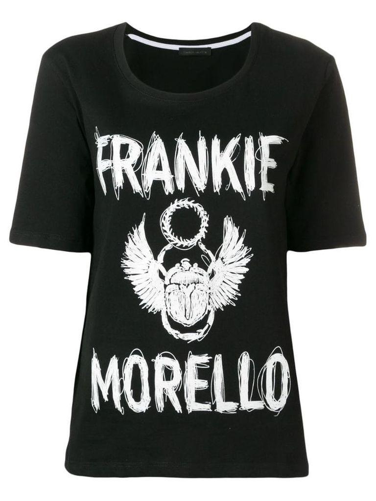 Frankie Morello logo round neck T-shirt - Black