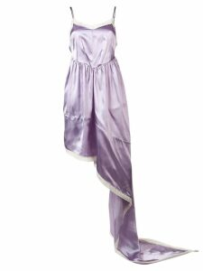 Mm6 Maison Margiela asymmetric flared dress - Purple