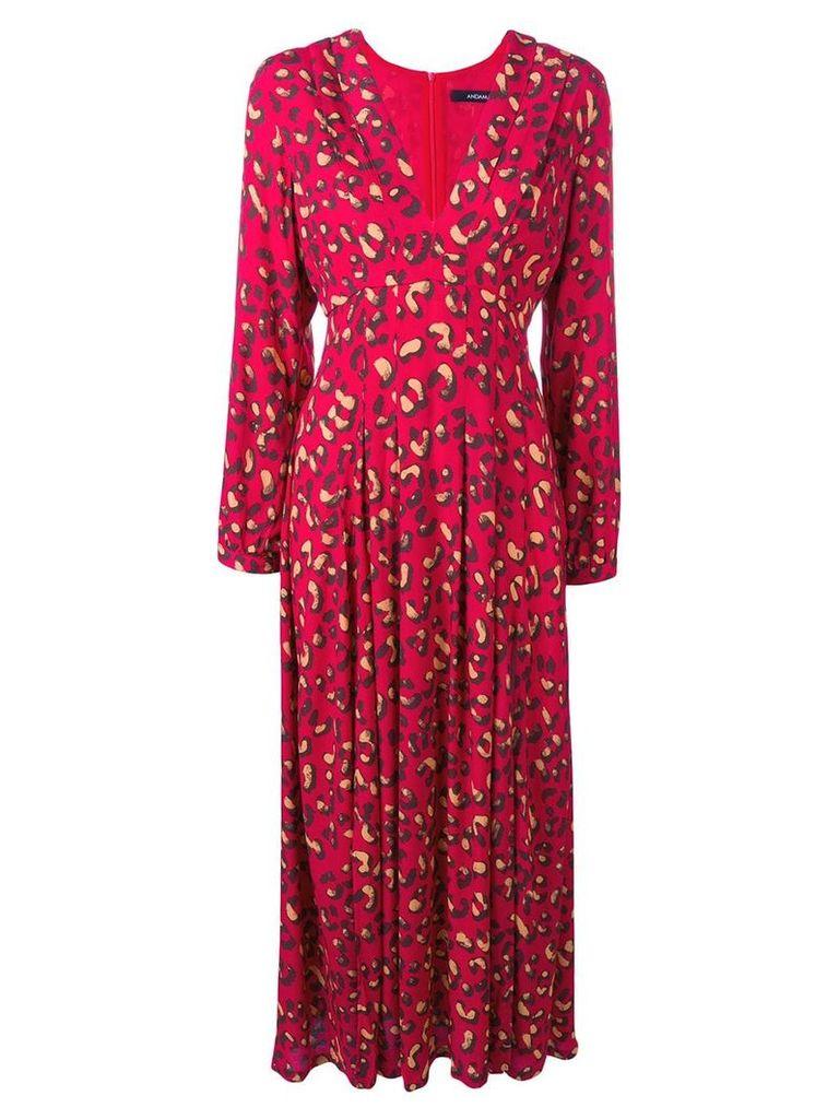 Andamane abstract print maxi dress - Red