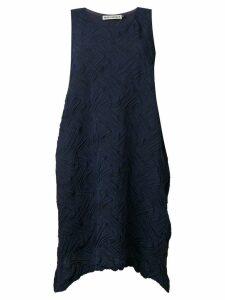 Issey Miyake stroke texture dress - Blue