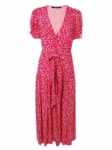 Andamane floral print midi dress - Red