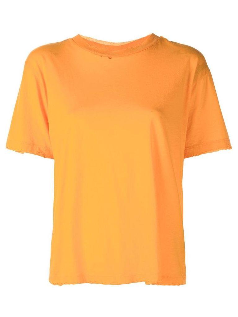 Unravel Project raw edge T-shirt - Orange
